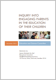 Inquiry into engaging parents in the education of their children